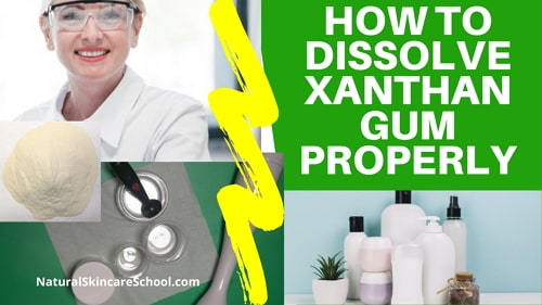 dissolving xanthan gum in water