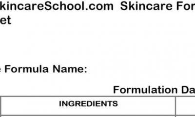 lotion formulation worksheet