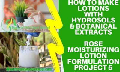 how to make lotion with hydrosols