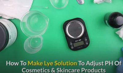 how to make lye solution to increase ph of skincare products