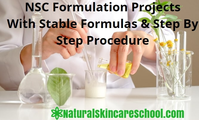 advanced organic cosmetic formulation projects