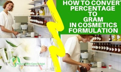how to convert percent to gram cosmetic formulation