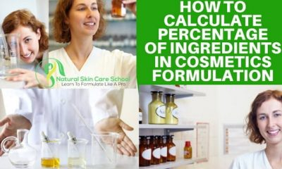 how to converts grams to percentage cosmetic formulation