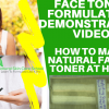how to make face toner