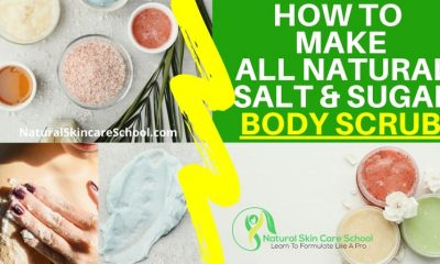 how to make salt sugar body scrub